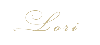 LORI signature in gold color
